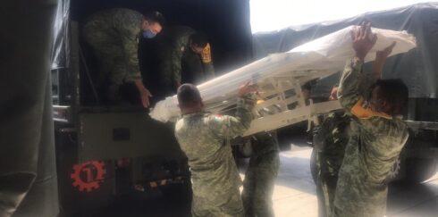 Vehículos Militares realizan viaje logístico con insumos y material médico, para atención de Hospitales INSABI COVID-19 de Zacatecas