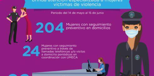 EN UN MES, SECRETARÍA DE SEGURIDAD BRINDÓ 1 MIL 491 SERVICIOS A MUJERES VÍCTIMAS DE VIOLENCIA