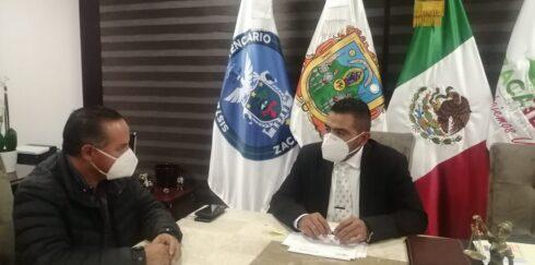 ACUERDA SECRETARÍA DE SEGURIDAD PÚBLICA TRABAJO COORDINADO CON EL MUNICIPIO DE PINOS
