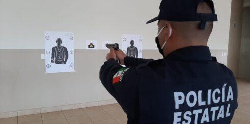 CAPACITAN A POLICÍAS EN PRÁCTICA CON DISPARO EN SECO