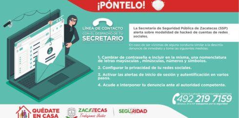 ALERTAN SOBRE HACKEO A CUENTAS DE REDES SOCIALES